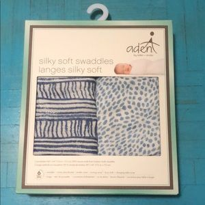 Aden +Anais silky soft swaddles 2 pack NWT
